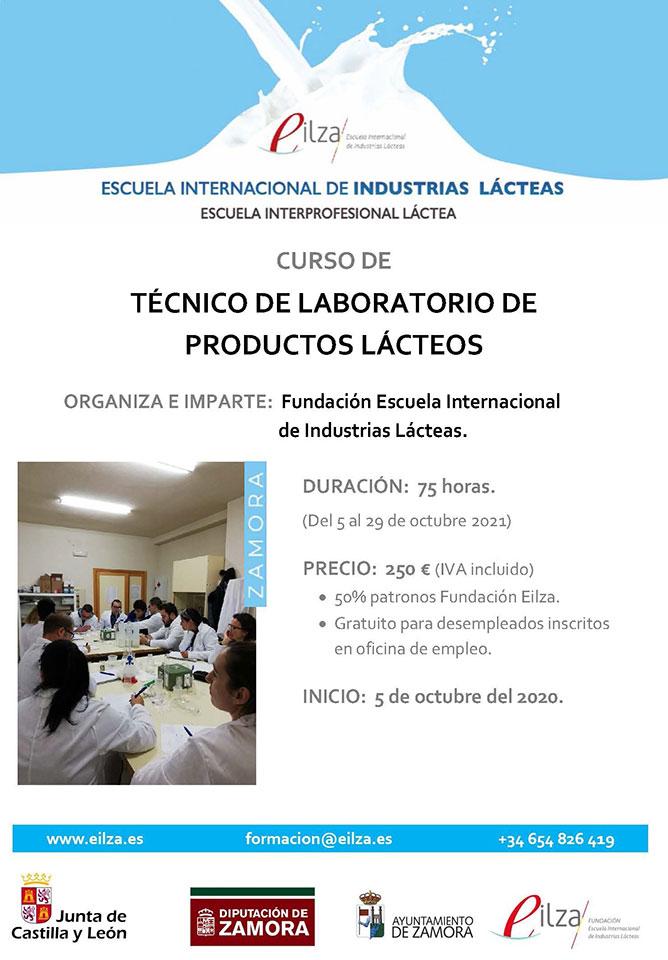 Cartel Curso Técnico de Laboratorio de Productos Lácteos